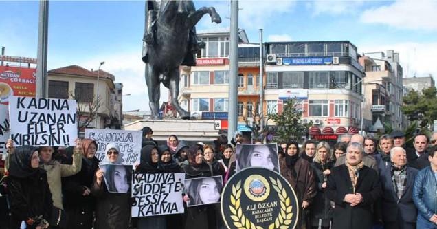 """Karacabey'de """"Özgecan"""" protestosu!"""