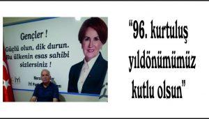 """""""96. kurtuluş yıldönümümüz  kutlu olsun"""""""