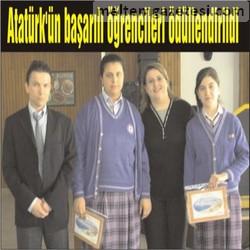 Atatürk'ün başarılı öğrencileri ödüllendirildi