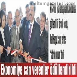 Ekonomiye can verenler ödüllendirildi