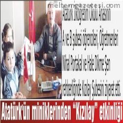 """Atatürk'ün miniklerinden """"Kızılay"""" etkinliği"""