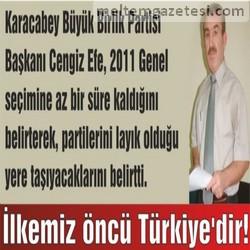 İlkemiz öncü Türkiye'dir!