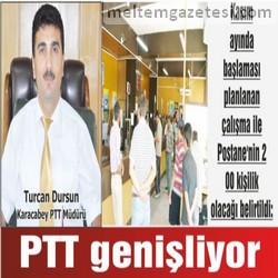 PTT genişliyor