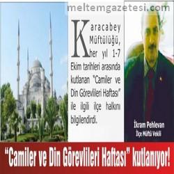 """""""Camiler ve Din Görevlileri Haftası"""" kutlanıyor!"""