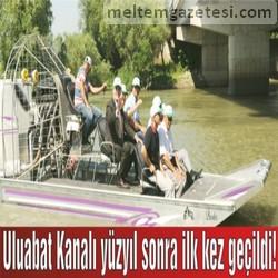 Uluabat Kanalı yüzyıl sonra ilk kez geçildi!