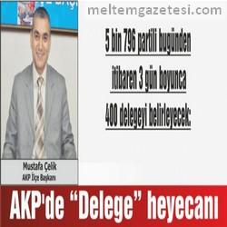 """AKP'de """"Delege""""  heyecanı"""