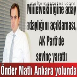 Önder Matlı Ankara yolunda