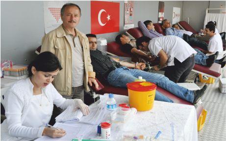 107 ünite kan toplandı