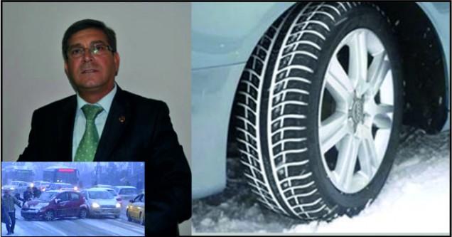 Kar lastiği takmayana 571 lira ceza