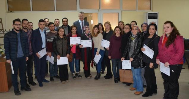 Belediye'den 'Girişimci Gençler'e başarı belgesi