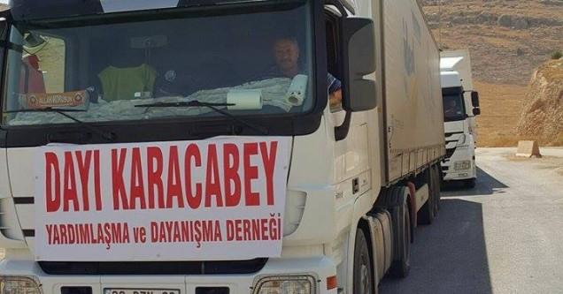 Dayı Karacabey Derneği'nden Suriye'ye su yardımı