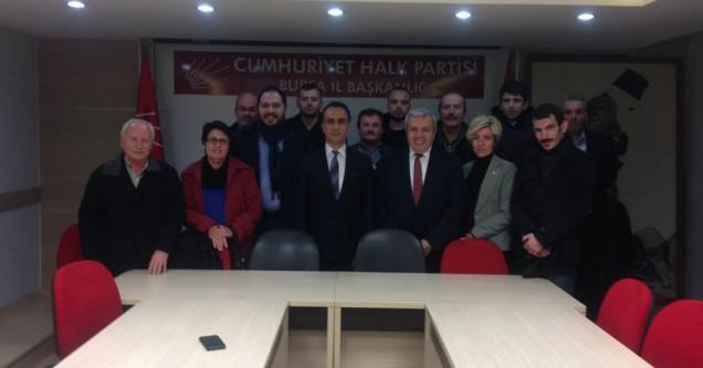 Karacabeyliler Derneği'nden yenilenen CHP örgütlerine ziyaret