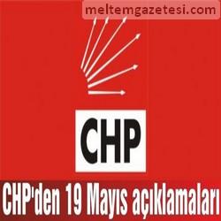 CHP'den 19 Mayıs açıklamaları