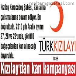 Kızılay'dan kan kampanyası