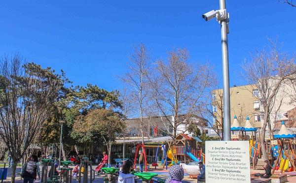 Çocuk parkları da 7/24 kameralar ile takip edilecek