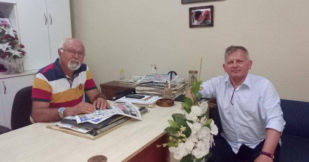 Özer'den  MELTEM'e  kutlama ziyareti