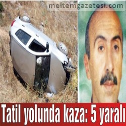 Tatil yolunda kaza: 5 yaralı