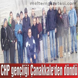CHP gençliği Çanakkale'den döndü