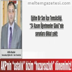 """AKP'nin """"ustalık""""  bizim """"huzursuzluk"""" dönemimiz!"""