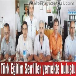 Türk Eğitim Sen'liler yemekte buluştu