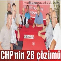 CHP'nin 2B çözümü