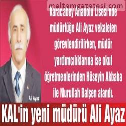 KAL'in yeni müdürü Ali Ayaz