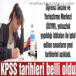 KPSS tarihleri belli oldu