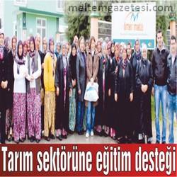 Tarım sektörüne eğitim desteği