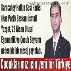 Çocuklarımız için yeni bir Türkiye