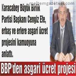 BBP'den asgari ücret projesi