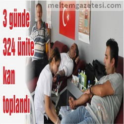 3 günde 324 ünite kan toplandı