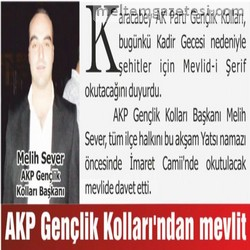 AKP Gençlik Kolları'ndan mevlit
