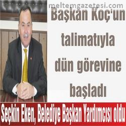 Seçkin Eken, Belediye Başkan Yardımcısı oldu