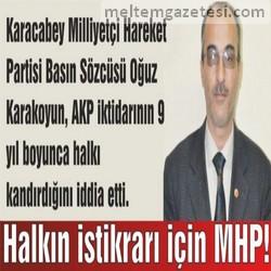 Halkın istikrarı için MHP!