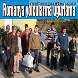 Romanya yolcuları uğurlandı