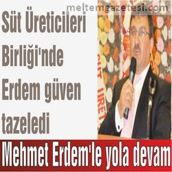 Mehmet Erdem'le yola devam