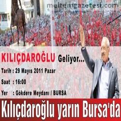 Kılıçdaroğlu yarın Bursa'da