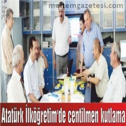 Atatürk İlköğretim'de centilmen kutlama