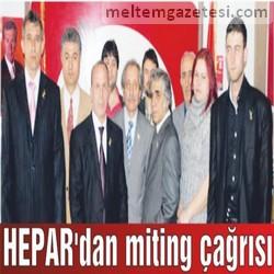 HEPAR'dan miting çağrısı
