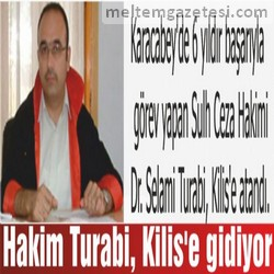 Hakim Turabi, Kilis'e gidiyor