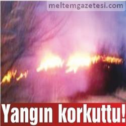 Yangın korkuttu!
