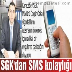SGK'dan SMS kolaylığı