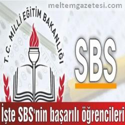 İşte SBS'nin başarılı öğrencileri