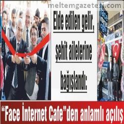 """""""Face İnternet Cafe""""den anlamlı açılış"""