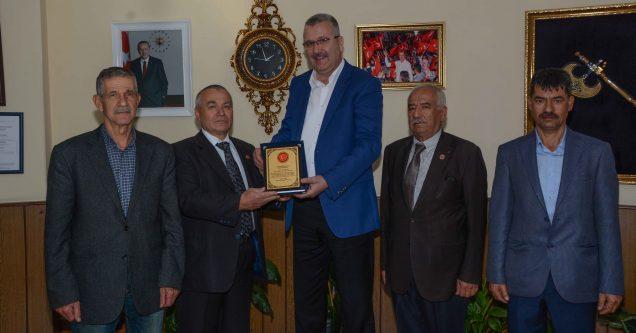 Muhtarlardan Başkan Özkan'a ziyaret