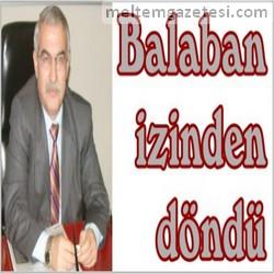 Balaban izinden döndü