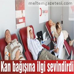 Kan bağışına ilgi sevindirdi