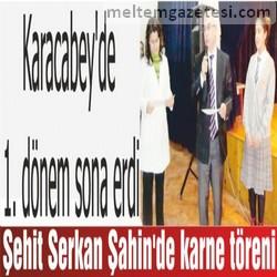 Şehit Serkan Şahin'de karne töreni