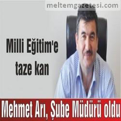 Mehmet Arı, Şube Müdürü oldu