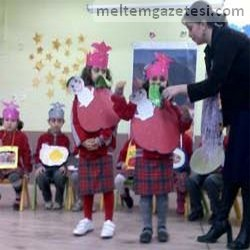 Şehit Bahadır Tayfur'lu minikler alkışı hak etti